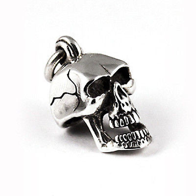 3-DIMENSIONAL SKULL CHARM/ PENDANT STERLING SILVER 925