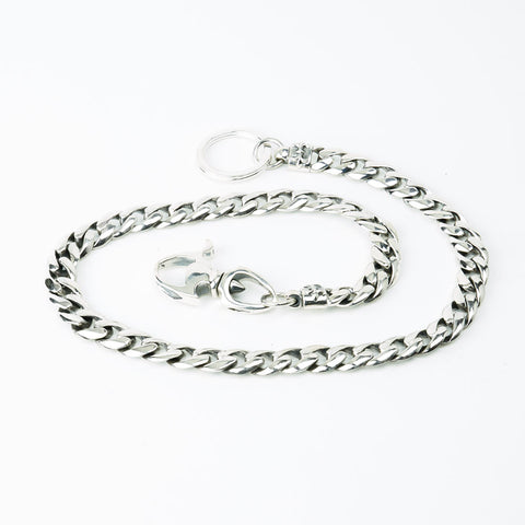 WALLET CHAIN STERLING SILVER 925 CURB LINK