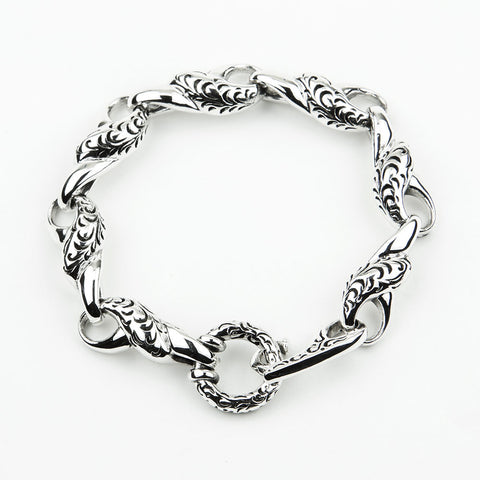 "BRACELET STERLING SILVER 925 TWISTED LINK- 8""L"