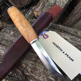 Pukko Knife 95mm with Figured Maple Handle