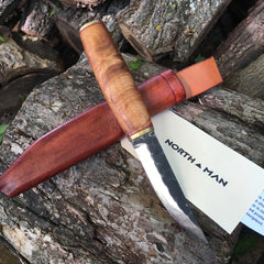 Pukko Knife 105mm with Figured Maple Handle