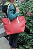 Terra-cotta Tote / Leather Handles