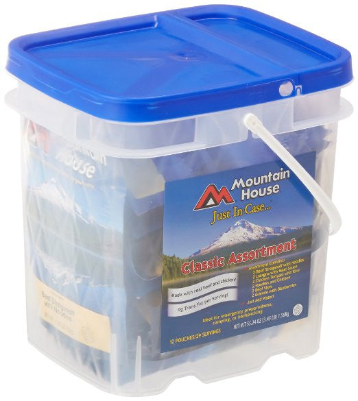 Mountain House, Just In Case... Classic Bucket Camping Hiking Hunting Boating Military Survival Food