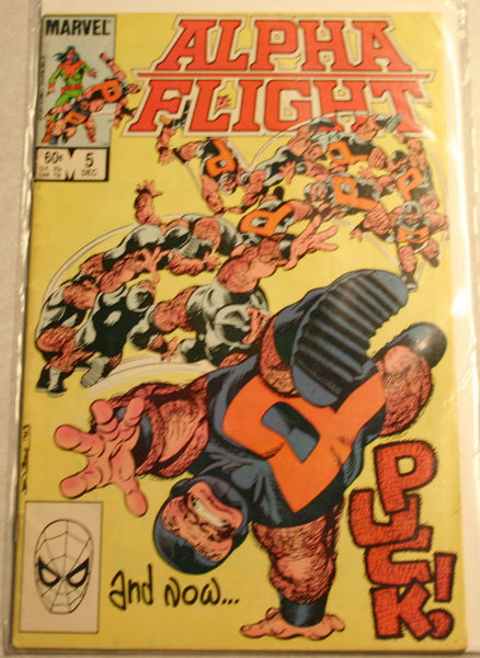 Marvels Alpha Flight December 1983 Issue #5, Bagged & Boarded Mid Grade Issue. This Is a Key Issue!