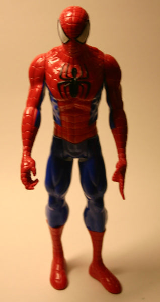 11.5 Inch Marvel's Spider Man, Dated 2013 Hasbro Blue Suit!