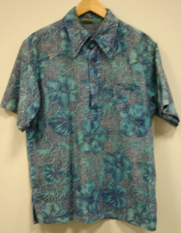 1960's Rare Vintage Go Barefoot Hawaii Size XL Pull Over Reverse Print Hidden Slit Pocket Fantastic Vintage Condition!