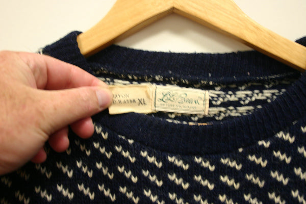 Outstanding Size XL Vintage LL Bean Sweater, Made In Norway, 80% Wool, Fantastic Condition & a True Rare Vintage Find!