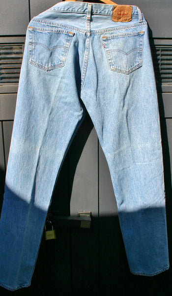 Vintage Made In USA Levis 501's XX Size 36/34 Great Clean Condition No Noticeable Wear Rare Older Pair Sort Of an Acid Washed Finish.