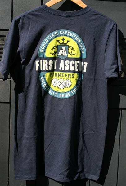Size Medium Dead Stock Eddie Bauer First Ascent 100% Organic Cotton Tee Two Sided Graphics! Thin & Soft!