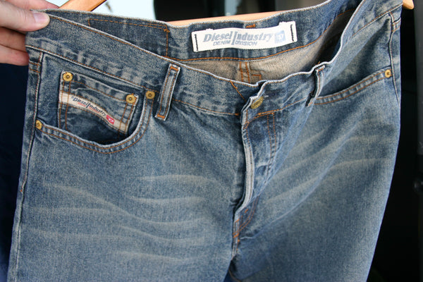 Size 36 Diesel Brand Jeans Fantastic Condition Perfect Italian Made Premium High End Denim Great Slightly Darker Oiled Wash
