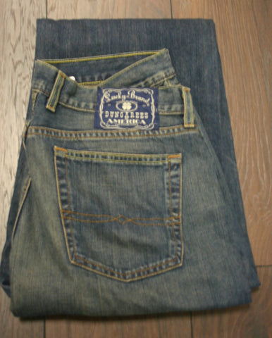 Size 36 Bootcut Regular Length Fantastic Condition Lucky Brand Dungarees, Mechanic Wash Great Jeans!