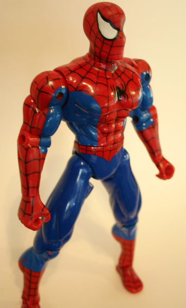 10.5 Inch Spider Man Action Figure Marvel Toy Biz Brand. Minor Scuffing Great Movement Dated 2001