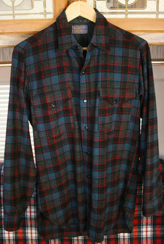 Vintage Pendleton Wool Shirt Dated 1962, 21 Inches Pit to Pit, Two Button Pocket Long Sleeve Perfect Condition!