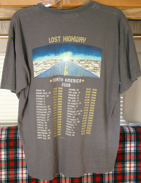 Vintage 2008 Bon Jovi Lost Highway Tour Dates Tee, 22 Inches Pit to Pit, Great Vintage Condition!