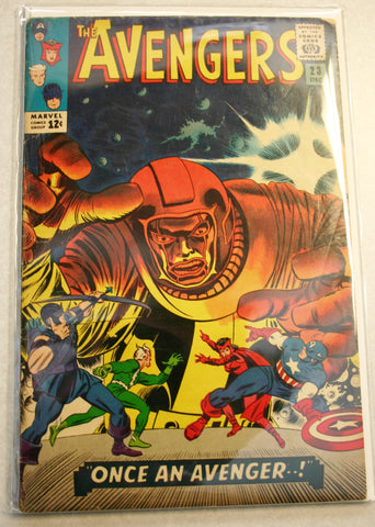 Marvel's The Avengers #23 Dated December 1965, Rare Comic Graded in About a 5.0. Great Cover Art!