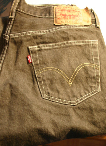 Levis 501s XX Button Fly Size 36/30 Chocolate Brown Near Perfect Condition With No Trace Of Wear!