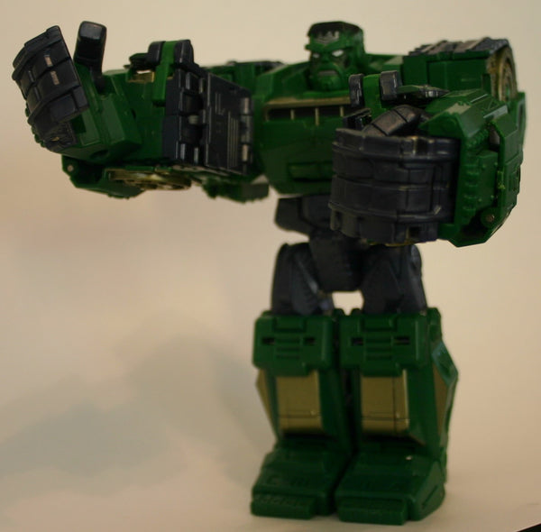 Marvel Incredible Hulk Transformer Crossover, Loose Figure Fantastic Condition Fully Transformable to Tank Vehicle!