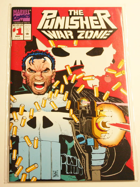Marvels The Punisher War Zone #1 Die Cut Cover Mint Condition March 1992 Bagged & Boarded!