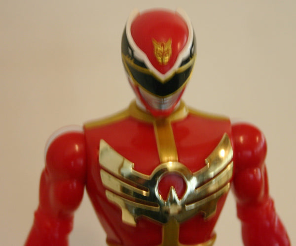 Red Power Ranger Talking 10 Inch Loose Figure As Is Works Great Good Details Ready To Ship!