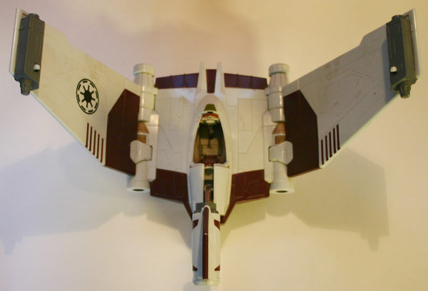 Star Wars V-19 Torrent Starfighter Clone Pilot Loose Figure As Is Some Parts Missing Great Details! 2008 Clone Wars.