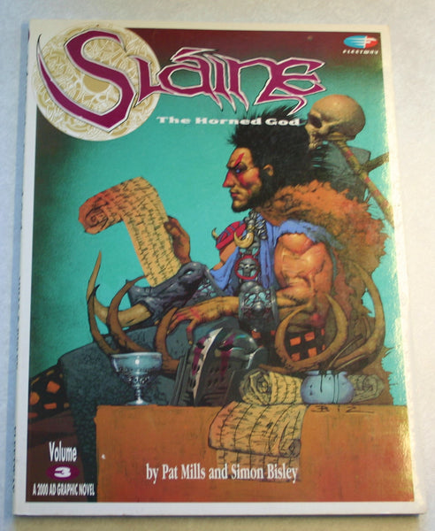 First Edition March 1991 Graphic Novel, Slaine Vol 3 by Pat Mills and Simon Bisley Rare, Fantastic Artwork Great Condition.