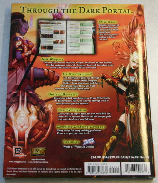 World of Warcraft: The Burning Crusade Official Strategy Guide January 16, 2007 Great Used Condition