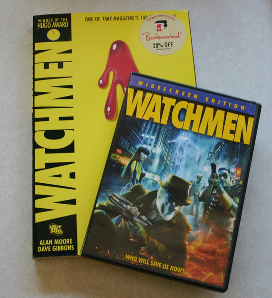 The Watchmen DC Comic Graphic Novel 2005 & Widescreen Edition DVD 2009 Book DVD Pack! Previously Viewed Used.