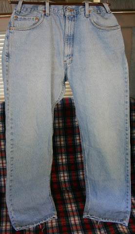 Rare Late 70's to Early 80's Made In USA Levis 505s Size 36/30 Nice Fade Minimum Wear Pant Cuff Only, Top Button Code 531.