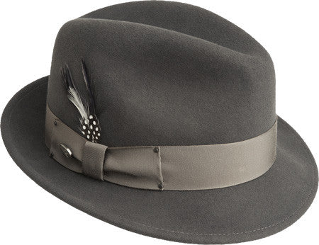 Men's Tino  Bailey of Hollywood Brand New Size Large Basalt Hipster Fedora Classic Hat High Quality