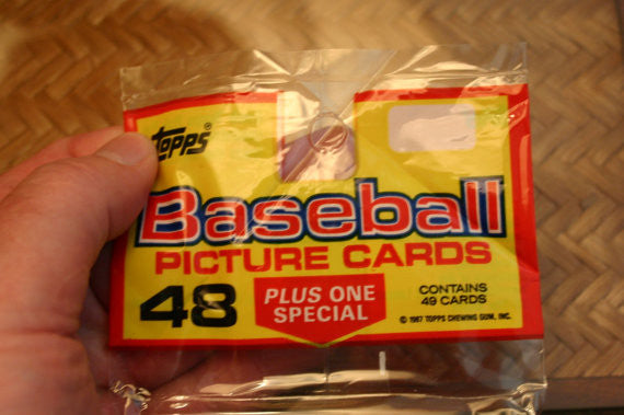 4 Complete Un-Opened Packs of 1986/87 Topps Baseball Cards Mint Still In Packs!! MLB Special! Each Pack has 49 Cards so 196 Cards Total.