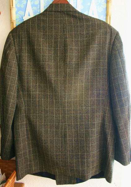 Fantastic Vintage 60's-70's Pure Cashmere Supper Lux Aldo Conti Italian Sports Jacket Hipster Chic!