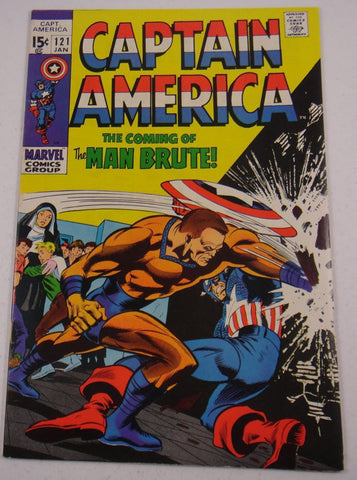 Captain America #121 Jan 1970, 9.2 or Better True Investment Grade Comic and a Very Popular Title. True Geek Chic Rare Item. Fantastic