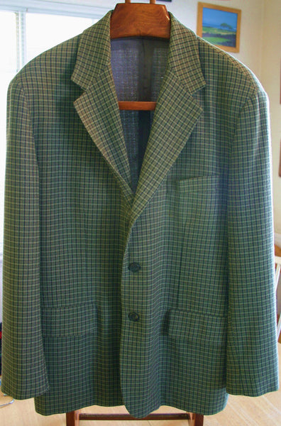 1970's Barneys New York Italian Made Sports Coat, Great Looking With A Pair Of Distressed Jeans & A Rocker Tee, Hipster Preppy Chic!!