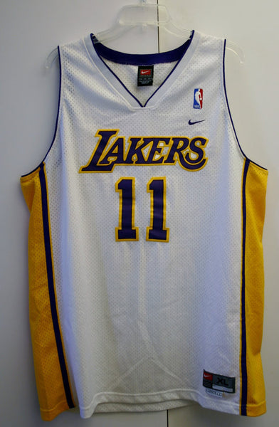 XL Length +2 Number 11 Malone LA Lakers NBA Team Nike Basketball Jersey Great Condition Display Item!!