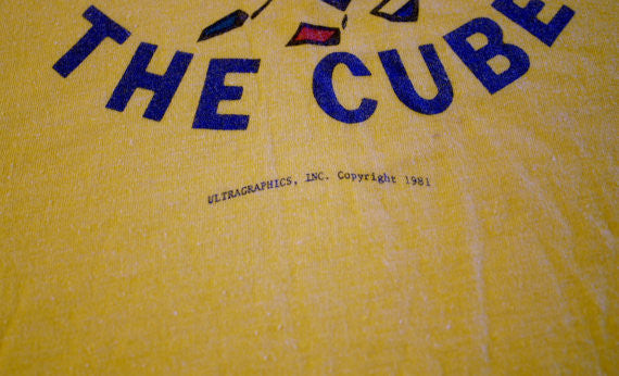 1981 Rubix Cube Tee Super Soft & Thin 19.5 Inches Pit to Pit Very Rare Collectable T-Shirt OG Original Geek Chic Find!