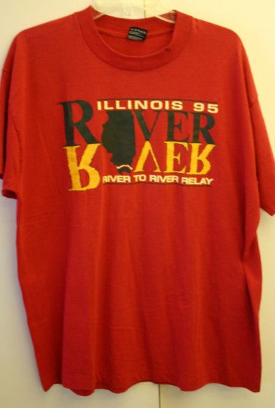 1995 Dated XL River to River Relay Illinois Vintage Tee A Rare Find Great Vintage Condition Fruit Of The Loom Best USA Made We Ship FAST!