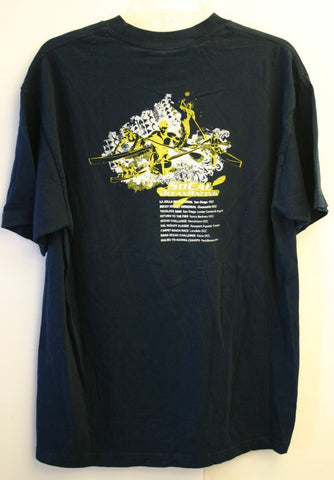 100% Cotton Size Large California Paddler Prone Sit Stand SoCal Ocean Racing T-Shirt Beach Fantastic Near Mint Condition Ready To Ship NOW!!