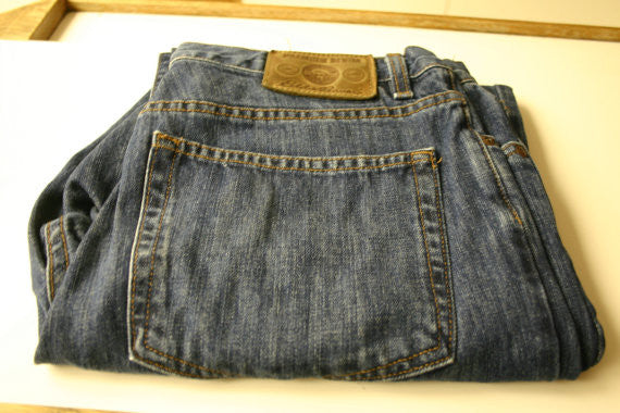 Eddie Bauer Premium Denim Size W35 L30 Mens Homme Classic Fit Dark Blue Jeans Like New!!