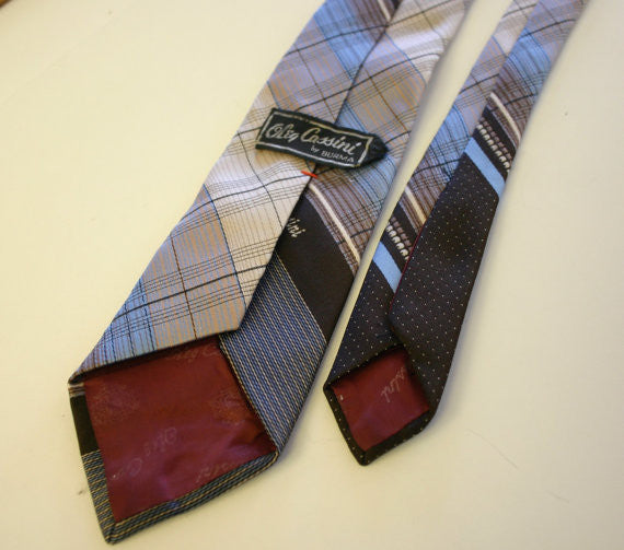 Smart 1970's Signature Oleg Cassini By Burma Men's Hipster Dress Tie, Great Look!!