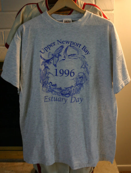 Size XL 99% Cotton Upper Newport Beach 1996 Estuary Day (Back Bay) Sponsors On The Back SoCal The OC Beach Tee Location Tee!!