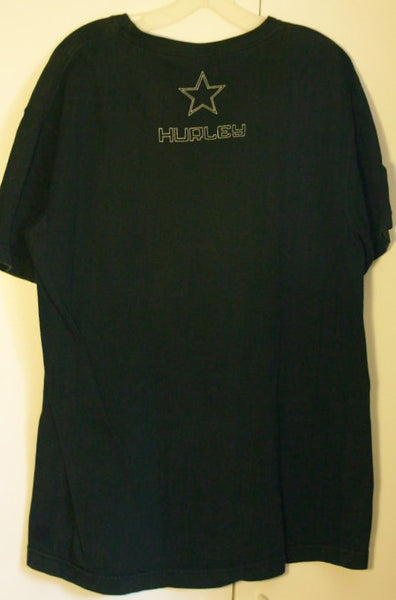 Size Large Hurley Surfer Skater Tee Great Vintage Look 100% Cotton Two Sided SoCal The OC Cool!!