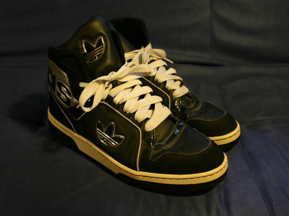 Size 11.5 The Absolute Coolest Pair Of Adidas High Tops I Have Seen In Six Months!! Very Clean And Ready To Go Now Hip Hop Hipster Urban!!