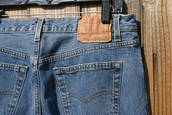 Levis 501s Size 36/34 Medium Dark Indigo Nice Clean Pair Button Fly Classic Jeans, We Ship Fast!!