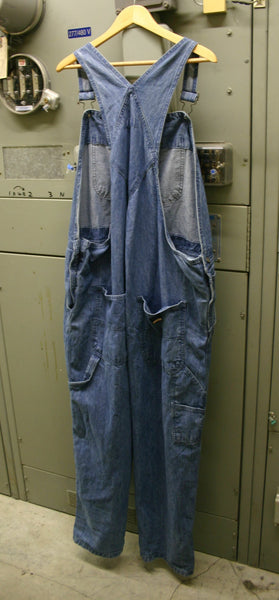 Vintage Craftsman Denim Overalls Coveralls Fantastic Condition All Snaps and Buckels Perfect Lots Of Pockets Size About a 50/30 Boho Cool!