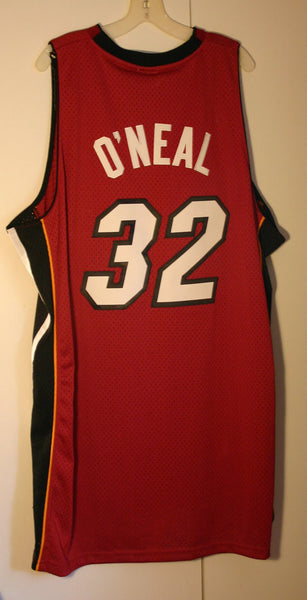 Reebok Miami Heat Number 32 Shaq O'Neal NWT Still With Tag Never Used Size 2X Official Fan Apparel Perfect Unused Condition! We Ship Fast!