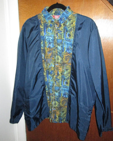 Rare Talon Zipper 1960s Mod Hawaiian Aloha So Cal Vintage Tiki Jacket Large-XL in Near Perfect Condition!! Hipster Retro Surfer Tiki Chic!!