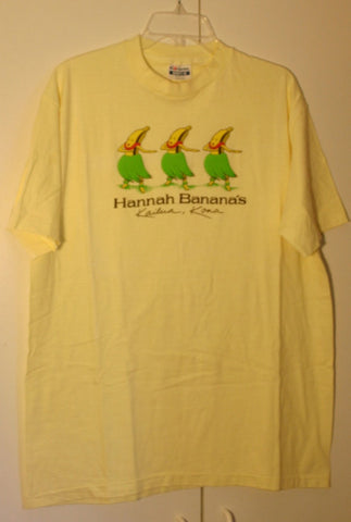 Size XL 46-48 Hanes Beefy-T Made In USA Puff Ink Very Rare Dead Stock Late 70's to Early 80's Hannah Banana's Kailua Kona Hawaii Perfect!