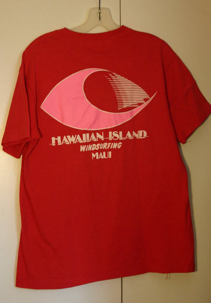 Rare Large 42-44 1970's Hanes Beffy T 100% Cotton Made In USA, Hawaiian Island Windsurfing Maui Hawaii Vacation Location Travel Tee!