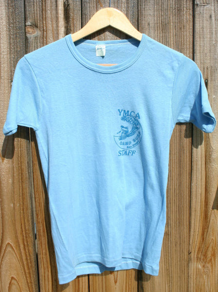 Deadstock Size Medium-Large Ultra Rare 1960/70s Stretchy Imperial Beach San Diego County YMCA Surf Camp Tee, A True Historical SoCal Tee!!
