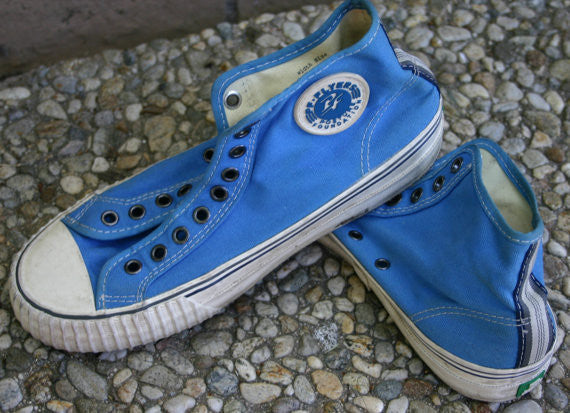 Size 7 Men's or 8.5 Woman's PF Flyers Royal Blue Great Features Hipster Sandlot Special, Nice & Worn In Rocker Punker Skater Gym Shoes